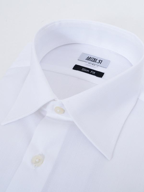 ≪よりどり3枚 3,900円≫形態安定/セミワイドカラー/定番柄無地ホワイトシャツ