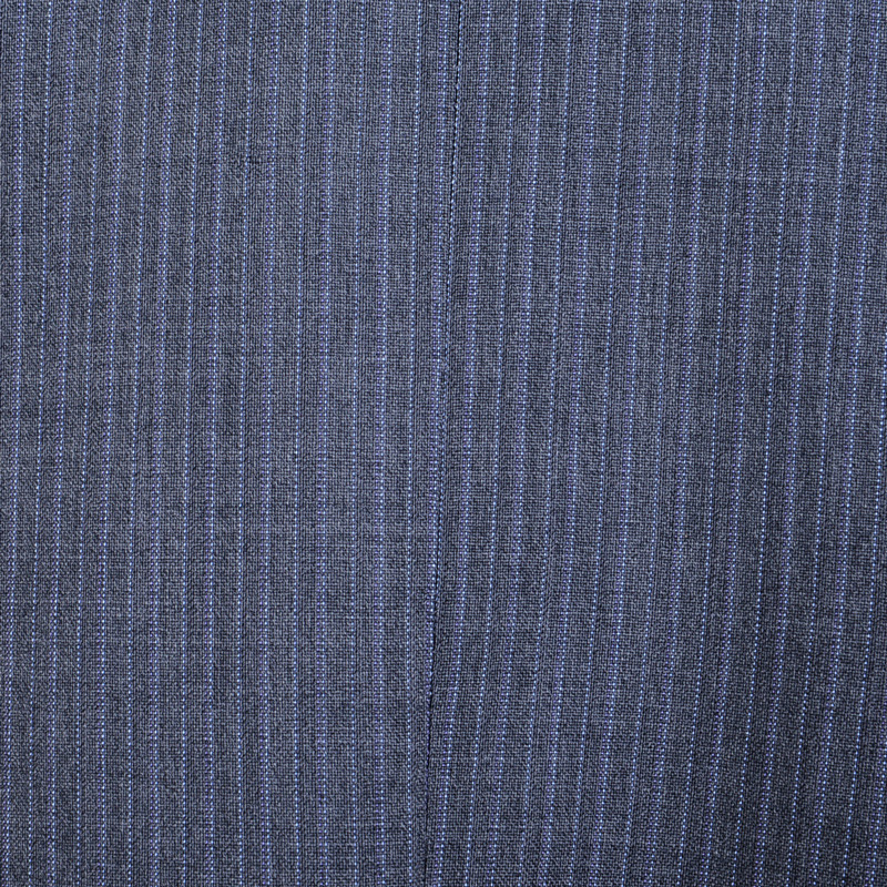 ≪WEB限定≫Loropiana(ロロピアーナ)ウール100%/ライトグレーツイストストライプ 最高級スーツ