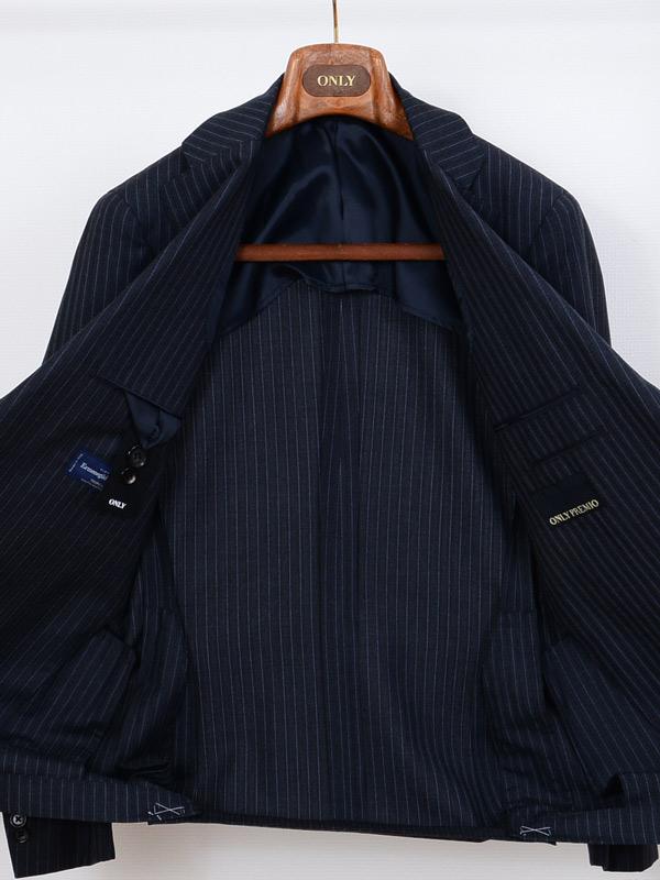 ≪WEB限定≫Zegna(ゼニア)極トロピカル/Superfine wool/ハイカラ色ストライプ/グレースーツ