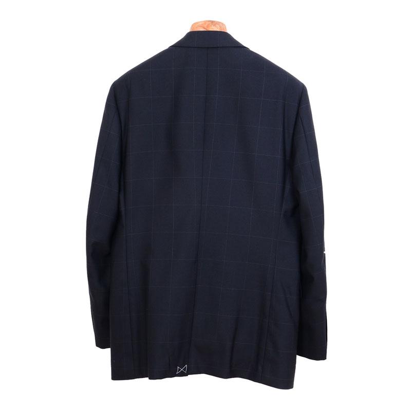 ≪よりどり2着18,000円≫軽量サマースーツ/ブラックチェックスーツ