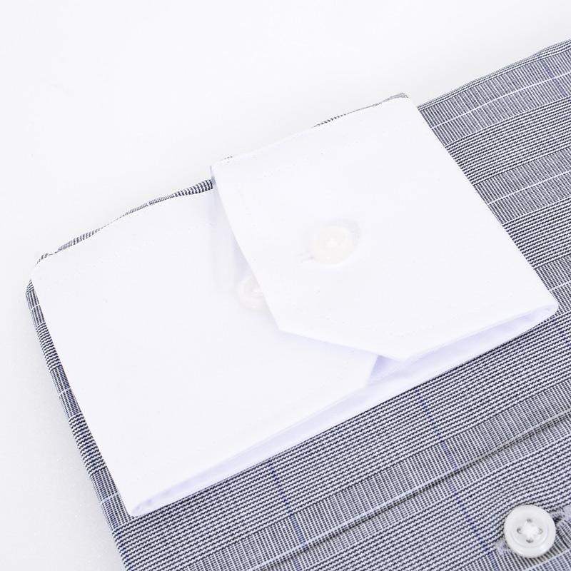 ≪よりどり2枚 3,900円≫綿100%/クレリックワイドカラー/グレーチェックシャツ