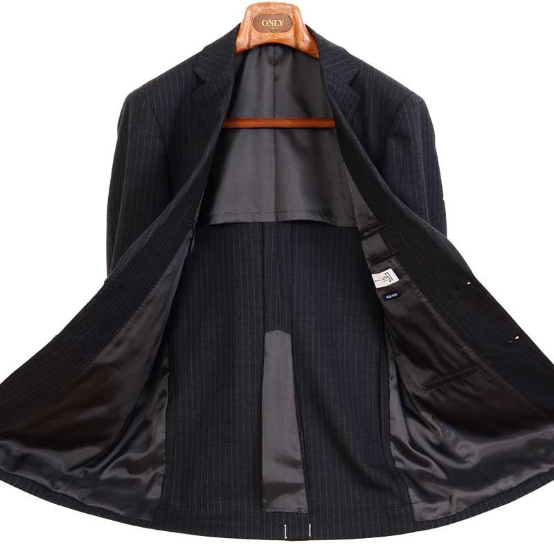 ≪よりどり2着18,000円≫爽快・軽量・洗えるグレーストライプスーツ