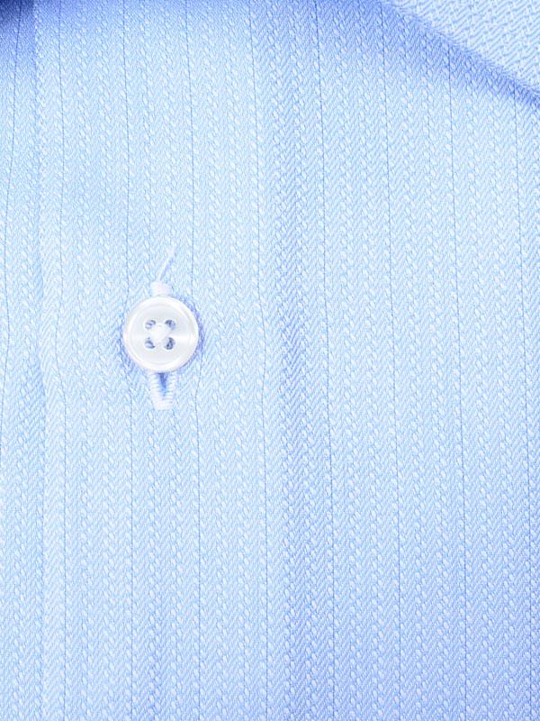 ≪よりどり3枚 3,900円≫やわらか形態安定/サックスワイドシャツ