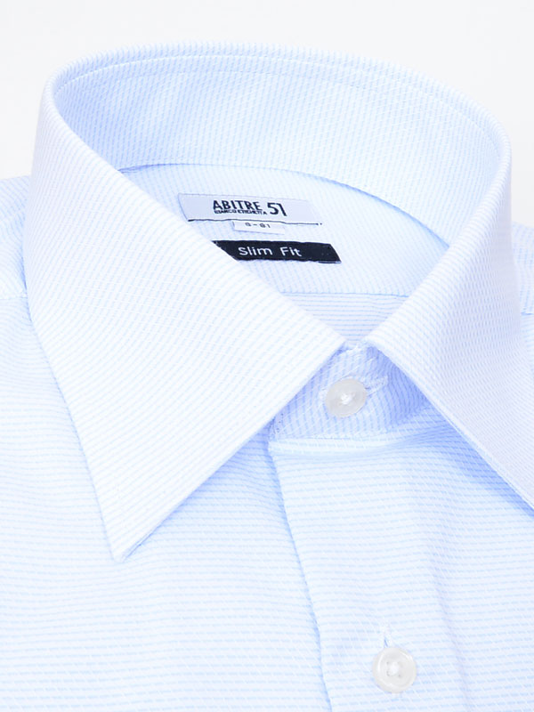 ≪よりどり3枚 3,900円≫やわらか形態安定/爽やかサックスシャツ