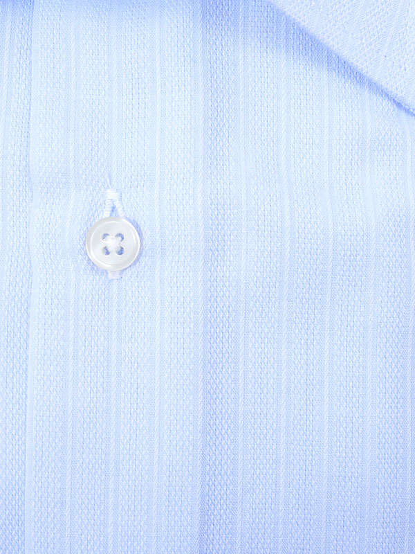 ≪よりどり3枚 3,900円≫やわらか形態安定/サックスさりげ柄シャツ