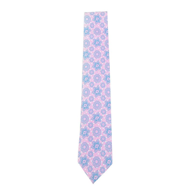 ≪INPACT価格≫小紋柄/上質春色ピンクネクタイ