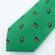 ≪INPACT価格≫小紋柄/上質鮮色グリーンネクタイ