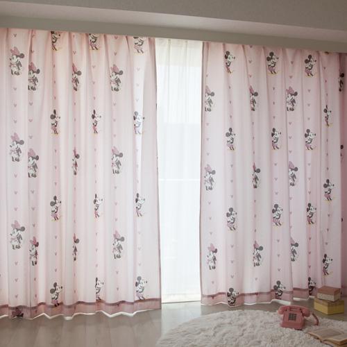 ミッキー&ミニー 遮熱カーテン 2枚組 [SB-1] ¥3,400〜¥5,990