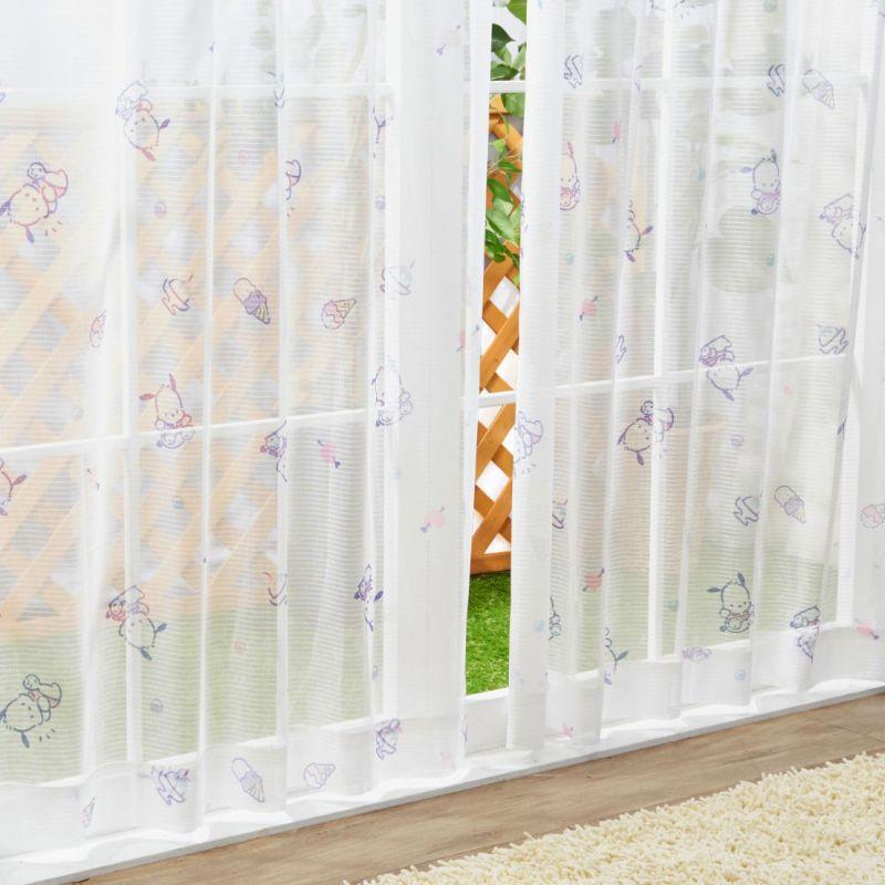 ポチャッコ 2級遮光・遮熱   カーテン+レースカーテン4枚組  [SB-534-S/SB-535-S]