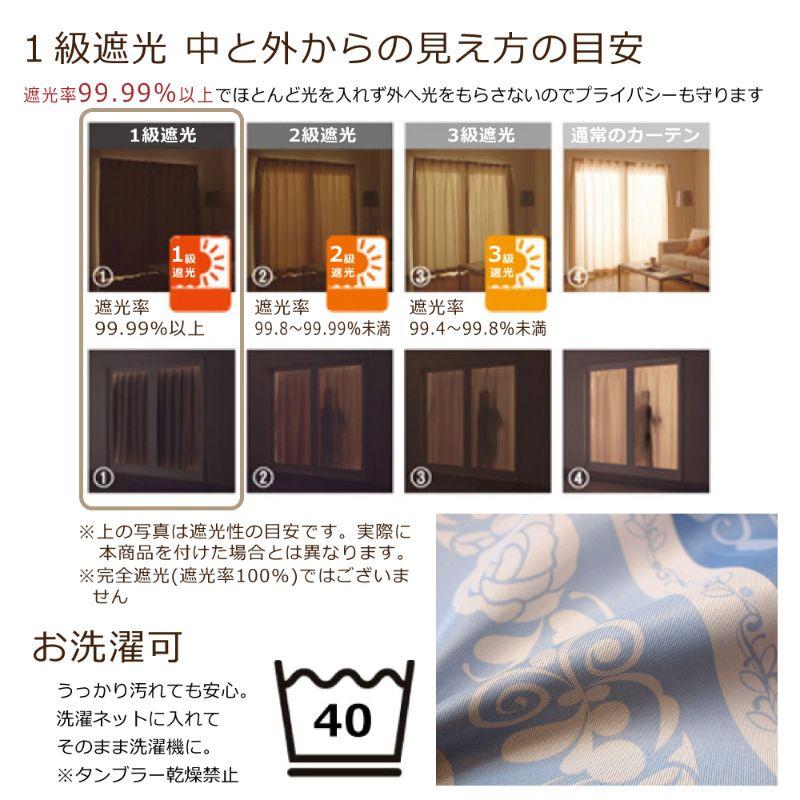 ミッキー&フレンズ 1級遮光 遮熱カーテン 2枚組[SB-545-D]