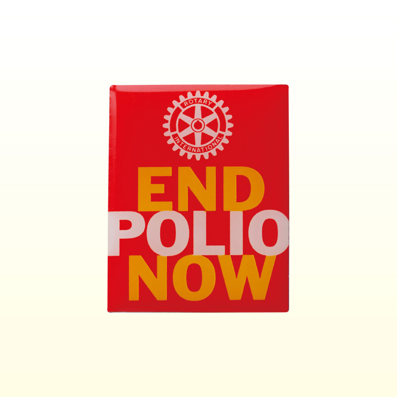END POLIO NOW バッジ