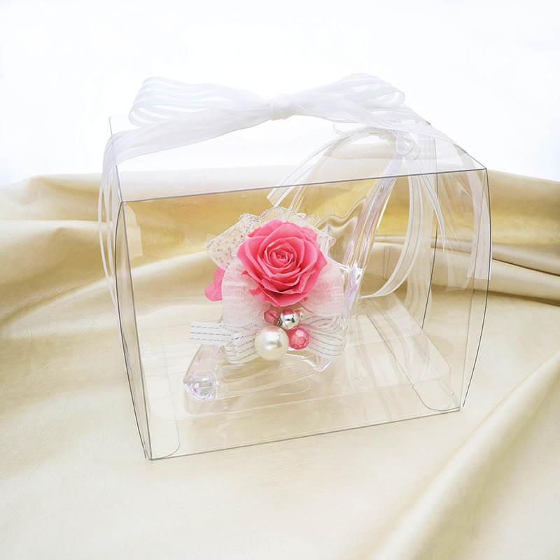 ガラスの靴 ピンク (メッセージカード付)