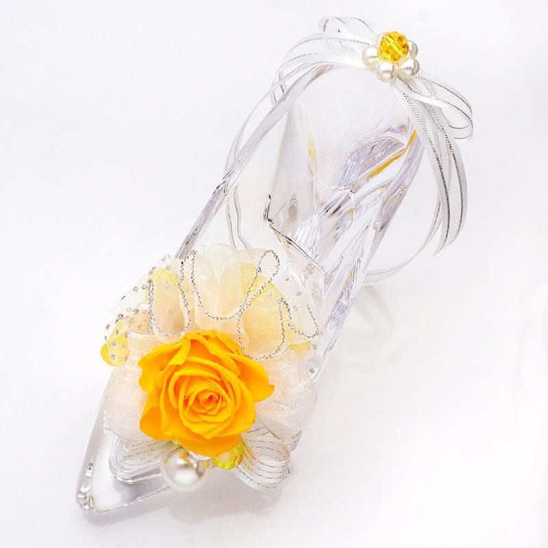 ガラスの靴 イエロー (メッセージカード付)