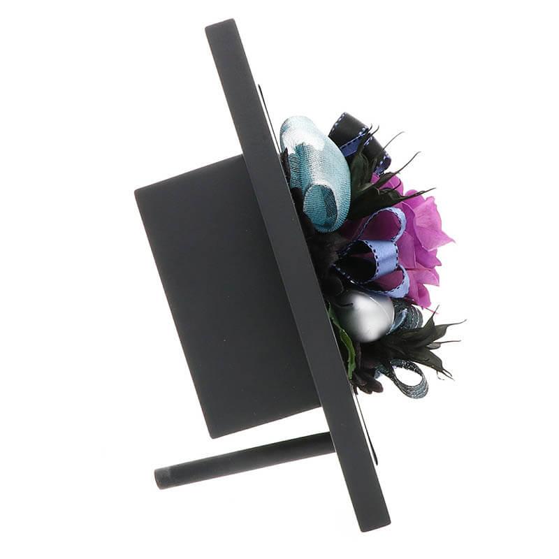 お祝い プリザーブドフラワー フレーム ブラック×パープル 「エレガント」