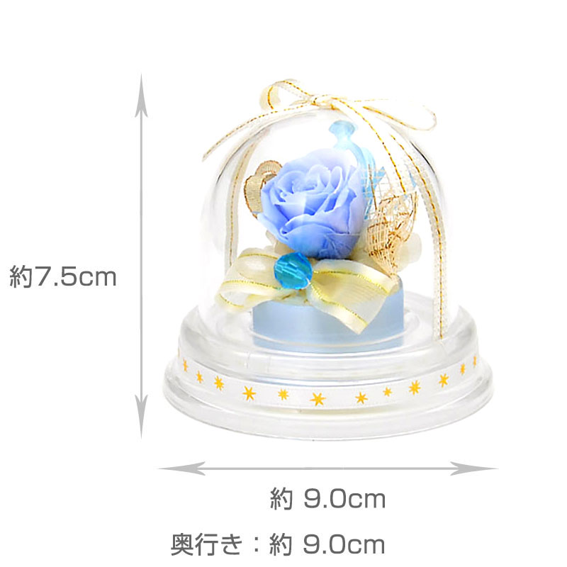 ドームアレンジ 誕生石ミニドーム【3月】