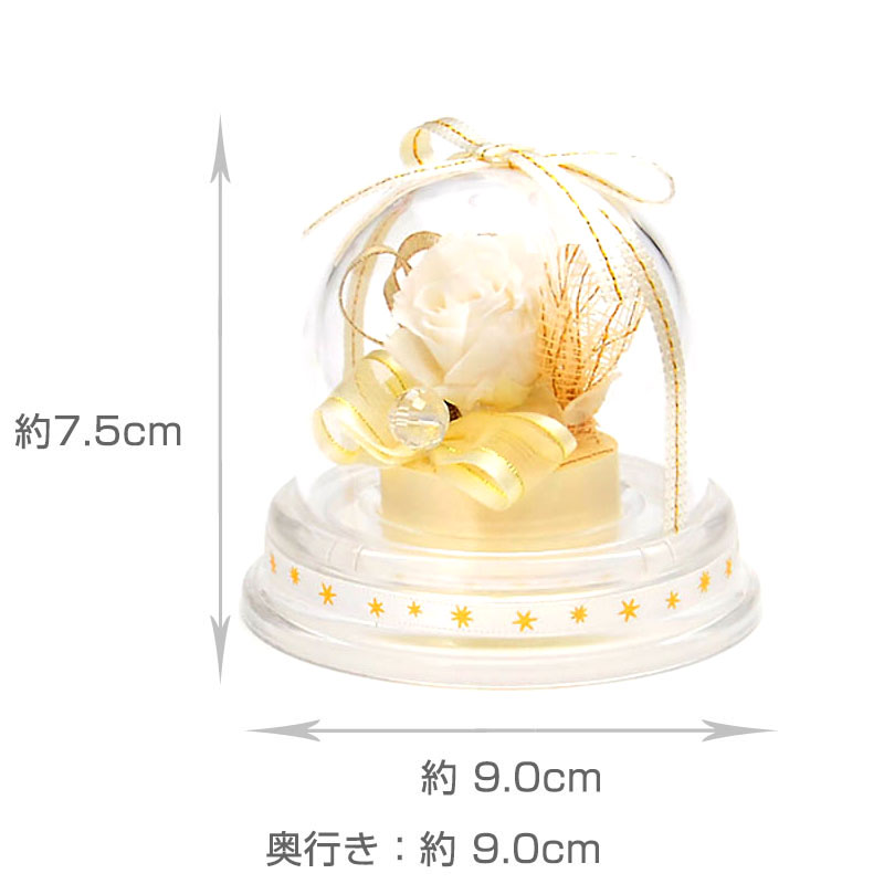 ドームアレンジ 誕生石ミニドーム【4月】
