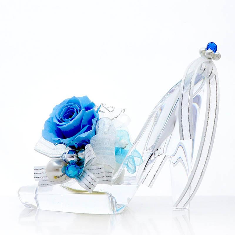 ガラスの靴 ブルー (メッセージカード付)