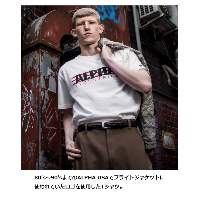 ALPHA TC1400 クラシックロゴTシャツ<br> 【アルファ CLASSIC LOGO TEE】ミリタリー カジュアル