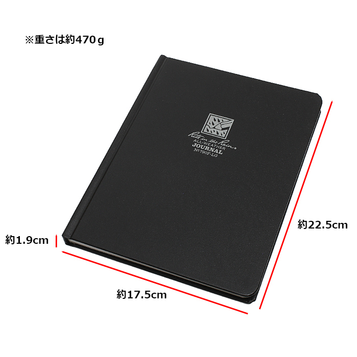 Rite in the Rain 790F-LG バウンド ブック<br>【ライト イン ザ レイン 790F-LG Bound Book】ミリタリー アウトドア 長期保存 米国製