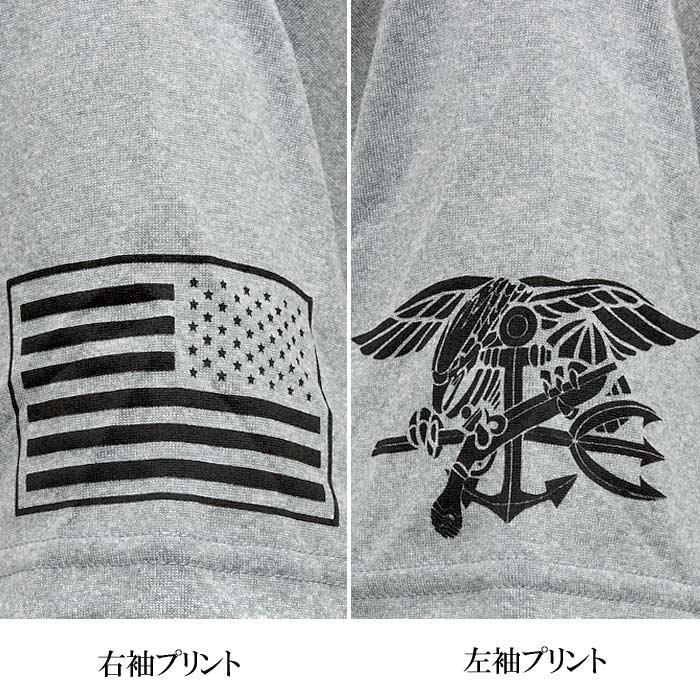 PHANTOM×UA フラッグ & トライデント T<br>【ファントム オリジナル under armour アンダーアーマー trident】メンズ ミリタリー カジュアル アウトドア 米海軍 特殊部隊 NAVY SEAL ネイビー シールズ