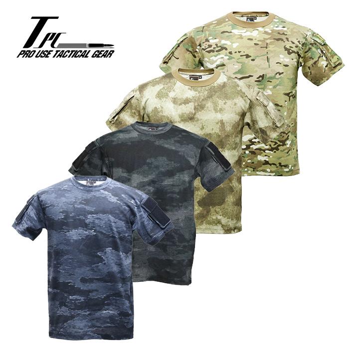 TP タクティカル ポケット Tシャツ<br>【tactical performance タクティカル・パフォーマンス】DCS A-TACS エータックス CRYE MULTICAM マルチカム ミリタリー サバイバルゲーム スリーブポケット