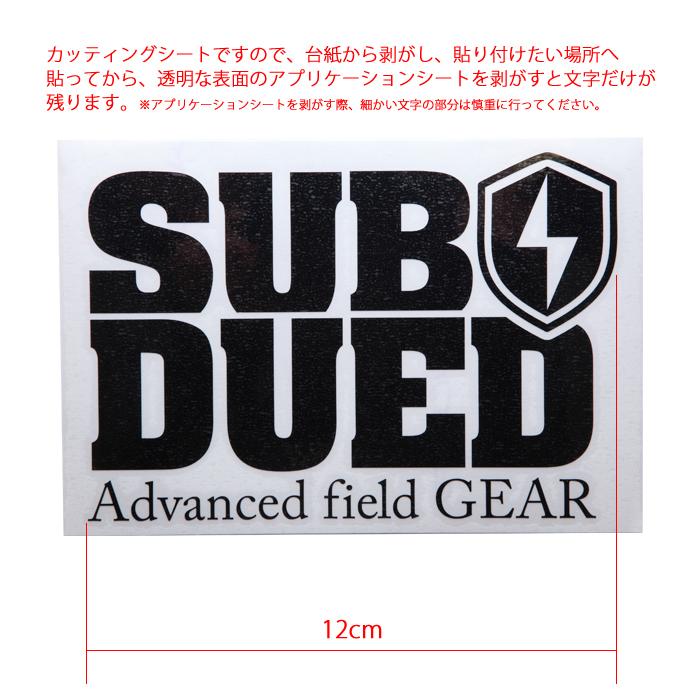 SUBDUED DECAL / MEDIUM【サブデュード デカール ミディアム】ミリタリー アウトドア マウンテンリーコン カッティングシート シール