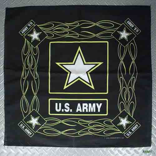 US ミリタリーバンダナ アメリカン ARMY NAVY MARINES AIRFORCE スカル