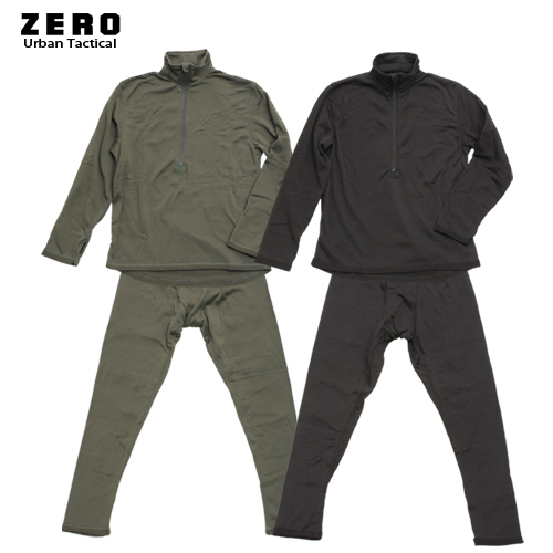 ZERO GEN-III LV2 アンダーウェア 上下セット<br>【ゼロ】 メンズ ミリタリー ECWCS レベル2 グリッドフリース ベースレイヤー アンダーウェア