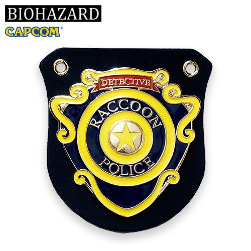 BIOHAZARD R.P.D. BADGE <br>【バイオハザード resident evil ポリス バッジ】CAPCOM カプコン ゲーム アールピーディー ラクーン市警察 バッジホルダー ボールチェーン付