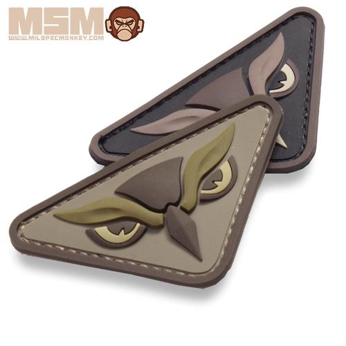 MSM OWL HEAD PVC PATCH <br>【MIL-SPEC MONKEY ミルスペック・モンキー オウル・ヘッド パッチ】ミリタリー サバイバルゲーム ワッペン ベルクロ付き