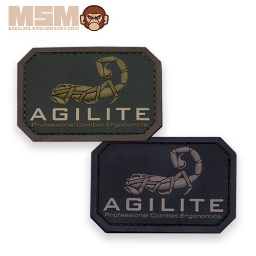 MSM AGILITE GEAR PVC PATCH <br>【MIL-SPEC MONKEY ミルスペック・モンキー パッチ】ミリタリー サバイバルゲーム ワッペン ベルクロ付き