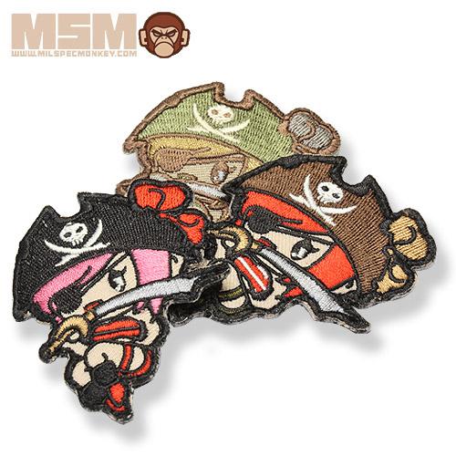 MSM PIRATE GIRL PATCH<br>【MIL-SPEC MONKEY ミルスペック・モンキー パイレーツガール パッチ】ミリタリー サバイバルゲーム ワッペン ベルクロ付き