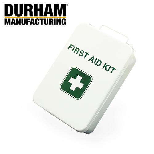 DURHAM 505S ファーストエイド・キット ボックス  【ダーム first aid kit box】 ミリタリー アウトドア インテリア 収納 ガレージ メタルボックス スチール製 救急箱