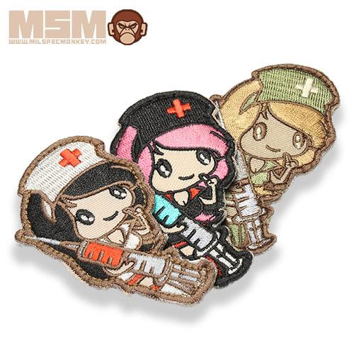 MSM NURSE GIRL PATCH<br>【MIL-SPEC MONKEY ミルスペック・モンキー ナースガール パッチ】ミリタリー サバイバルゲーム ワッペン ベルクロ付き