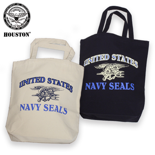 HOUSTON 6642 SEALs トートバッグ<br>【ヒューストン tote bag】ミリタリー カジュアル アウトドア トライデントマーク