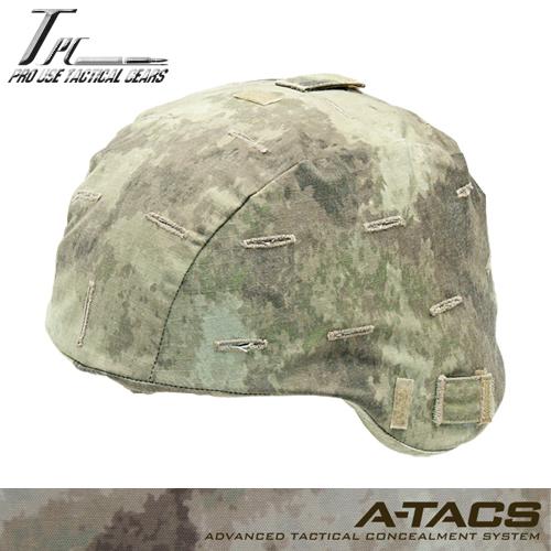 TP MICH2000ヘルメットカバー/A-TACS AU<br>【Tactical Performance タクティカル パフォーマンス】DCS エータックス ミリタリー サバイバルゲーム リップストップ