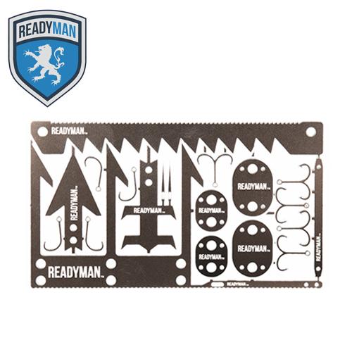 READYMAN ワイルダーネス サバイバルカード<br>【レディマン wilderness survival card】ミリタリー アウトドア マウンテン リーコン カードツール