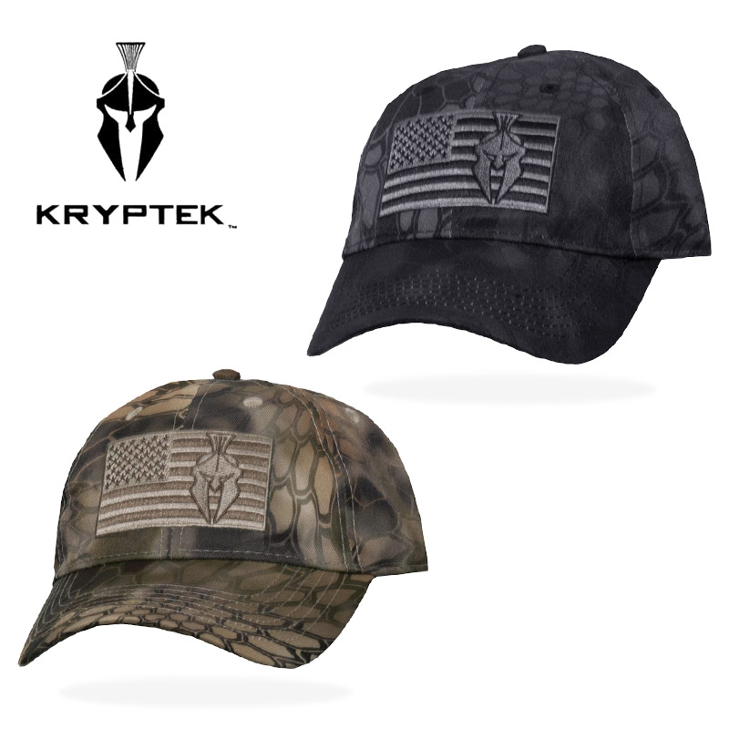 KRYPTEK アメリカンフラッグ キャップ<br>【クリプテックamerican flag cap】メンズ ミリタリー アウトドア サバイバルゲーム サバゲ highlander ハイランダー typhon テュポン 迷彩 星条旗 スパルタン ヘルメット