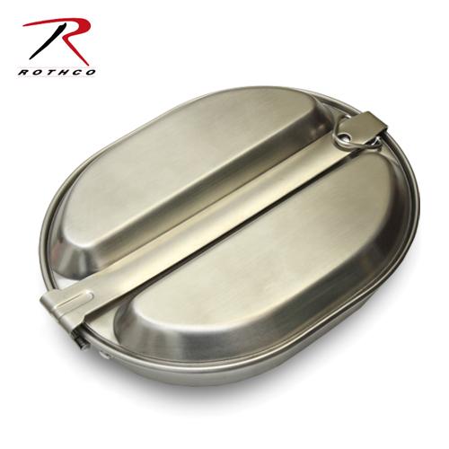 ROTHCO ステンレス メスキット<br>【ロスコ stainless mess kit】ミリタリー アウトドア フライパン トレー