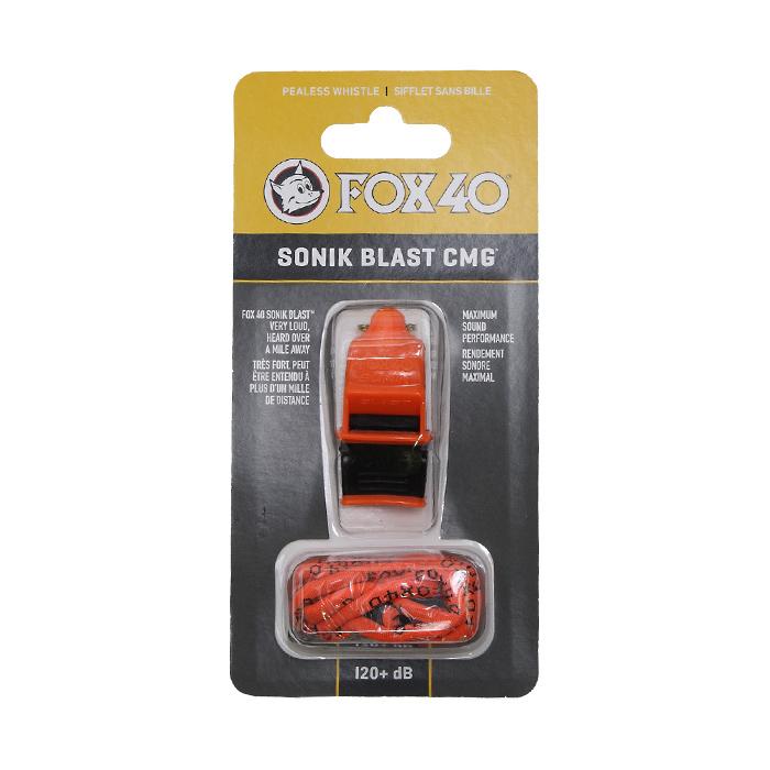 FOX40 ソニックブラストCMG<br>【フォックス sonik blast cmg】アウトドア ミリタリー スポーツ 災害時 120デシベル 笛