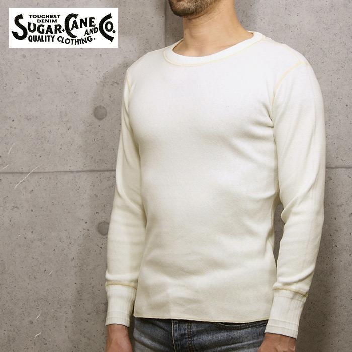 SUGAR CANE SC67161 ヘビーコットン ロングスリーブ Tシャツ<br>【シュガーケーン FICTION ROMANCE Heavy Cotton Long Sleeve T-shirts】メンズ カジュアル クルーネック 長袖 伸縮性 針抜きフライス