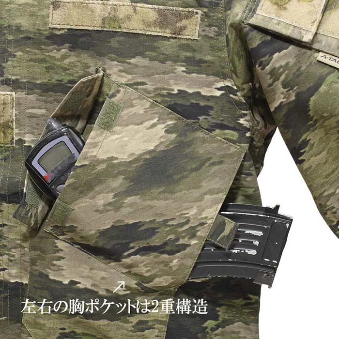 TP ASSAULT FORCE ジャケット / A-TACS iX<br>【tactical performance タクティカル・パフォーマンス DCS エータックス アイエックス】メンズ ミリタリー サバイバルゲーム サバゲ 強襲 BDU ジャケット