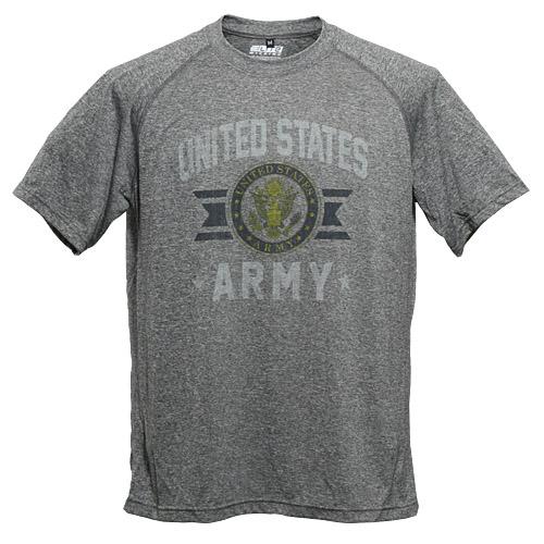US ARMY パフォーマンス Tシャツ<br>メンズ ミリタリー カジュアル アウトドア プリントTシャツ ポリエステル