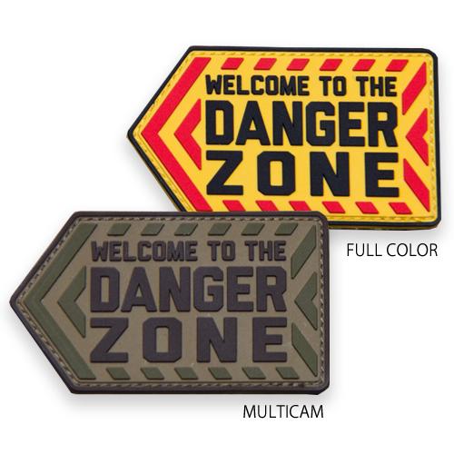 MSM DANGER ZONE PVC PATCH<br>【MIL-SPEC MONKEY ミルスペック・モンキー デンジャーゾーン パッチ】ミリタリー サバイバルゲーム ワッペン ベルクロ付き