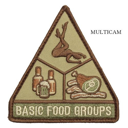 MSM BASIC FOOD GROUPS PATCH<br>【MIL-SPEC MONKEY ミルスペック・モンキー ベーシック フード グループ パッチ】ミリタリー サバイバルゲーム ワッペン ベルクロ付き ジョークパ