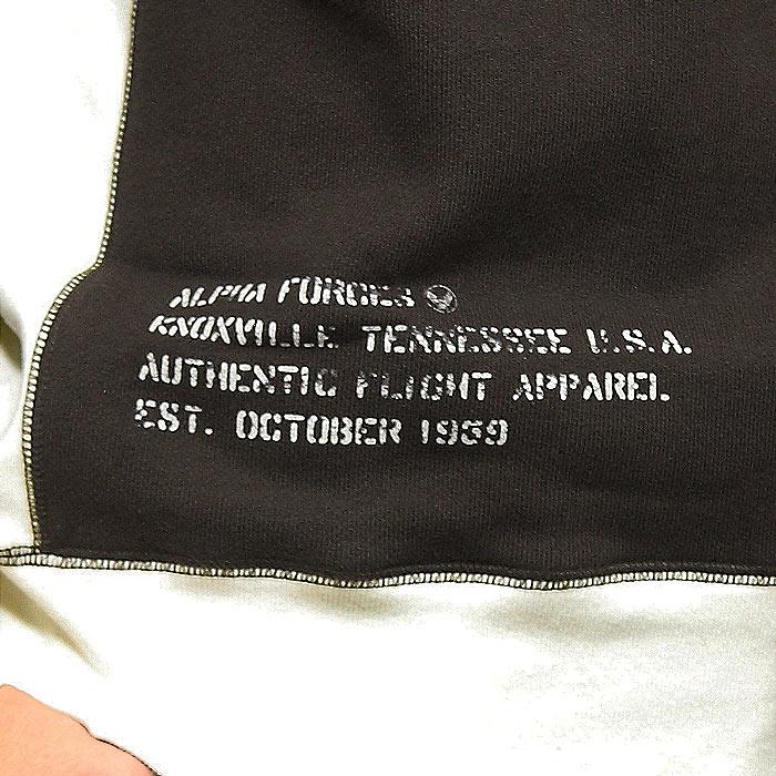 ALPHA TC1389 ビンテージ 2-TONE クルースウェット<br>【ALPHA Vintage 2tone Crew Sweat】メンズ ミリタリー カジュアル