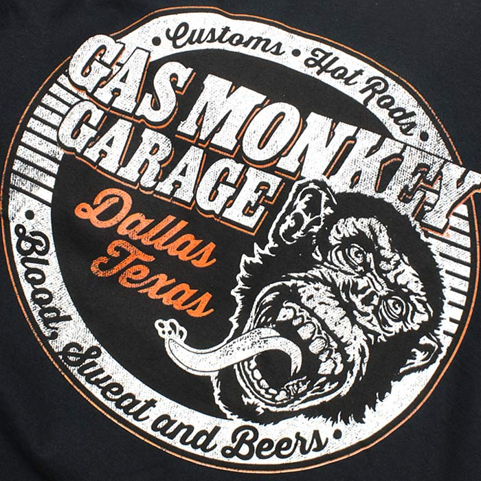 ガスモンキー ガレージ Tシャツ/CASTOM GARAGE<br>【Gas Monkey Garage Tee/カスタム ガレージ】 メンズ カジュアル Tシャツ