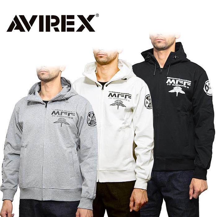 AVIREX 6193479 ウインドガード ジップパーカ<br>【アビレックス アヴィレックス Windguard Zip parka】メンズ ミリタリー カジュアル