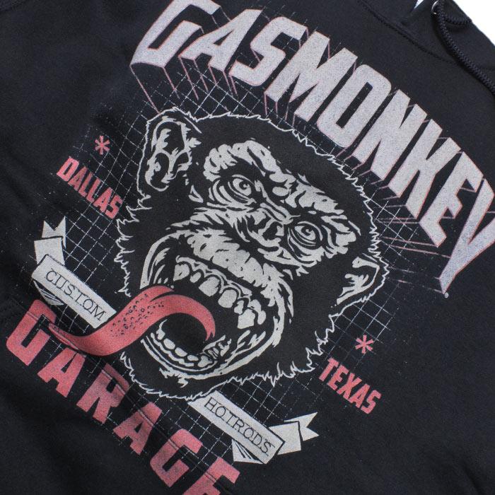 ガスモンキー ガレージ フレームド フーディー<br>【Gas Monkey Flamed Hoodie】 メンズ カジュアル パーカー