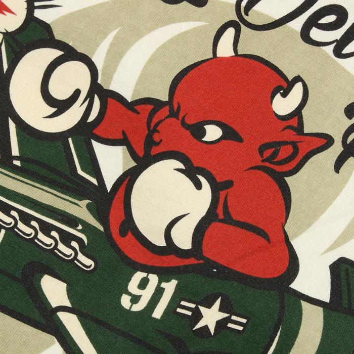 TEDMAN TDSS-473 エアファイター Tシャツ<br>【テッドマン TDSS-473 AIR FIGHTER Tee】 メンズ ミリタリー カジュアル Tシャツ